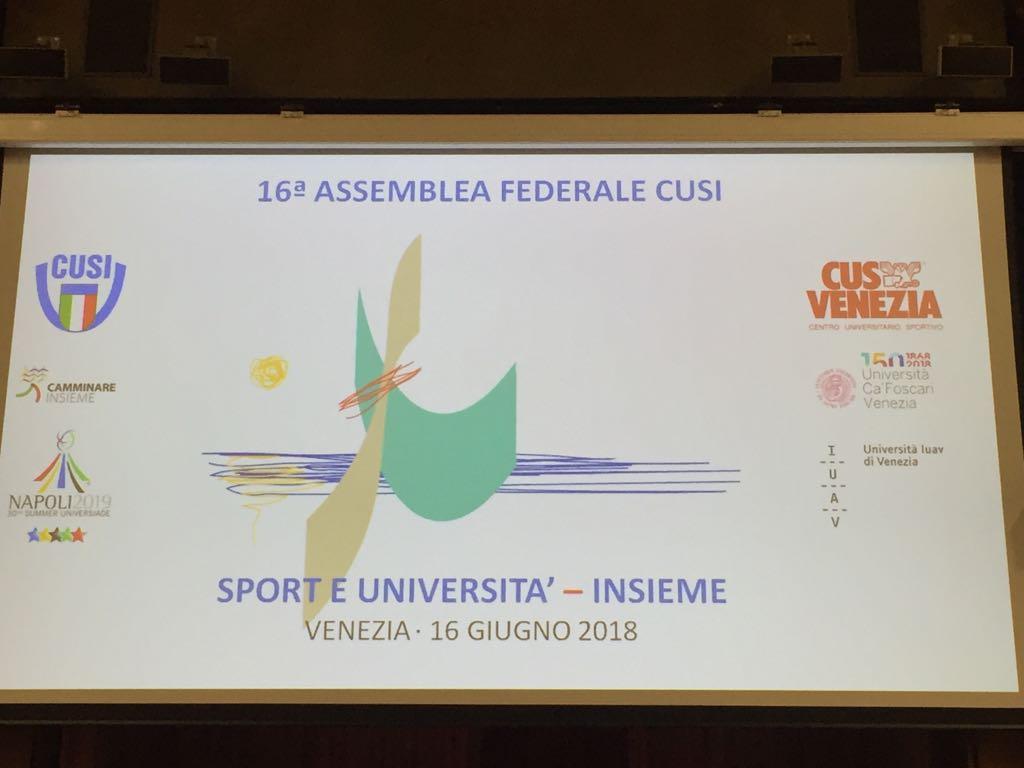 ASSEMBLEA FEDERALE CUSI 2018: IL CUS SASSARI C'E'!